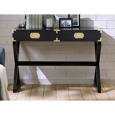 Mercer41 Cleorand Console Table Color Black Console Table Contemporary Console Table Home Decor