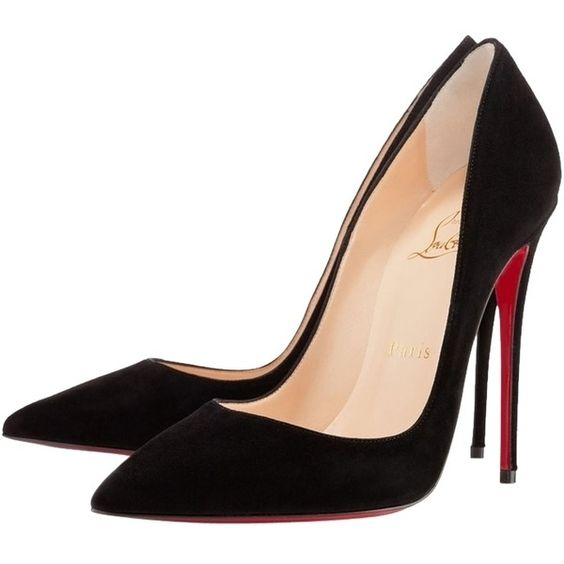 Pre-owned Christian Louboutin So Kate 120mm Black Suede Pumps (€620) ❤ liked on Polyvore featuring shoes, pumps, heels, chaussure, black suede, black shoes, kohl shoes, pre owned shoes, black heel pumps and christian louboutin pumps