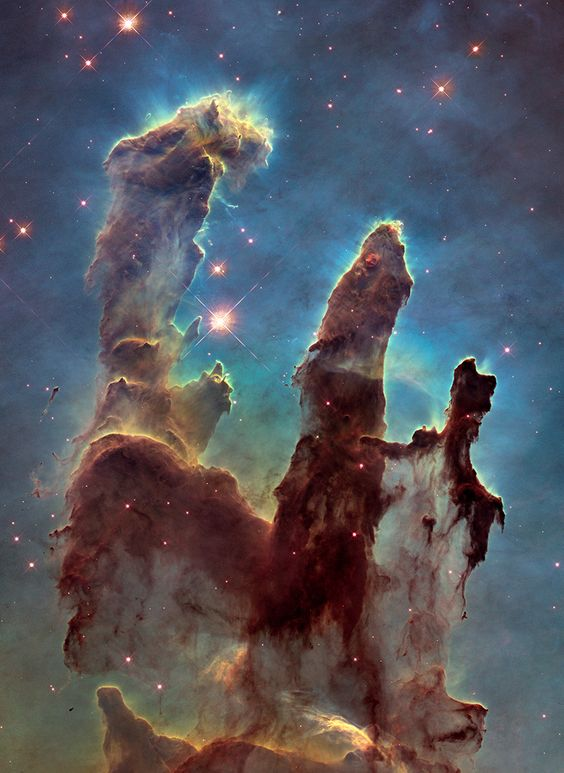 """NASA zeigt die """"Säulen der Schöpfung"""" hochauflösend und in ganzer Pracht - Engadget Deutschland"""