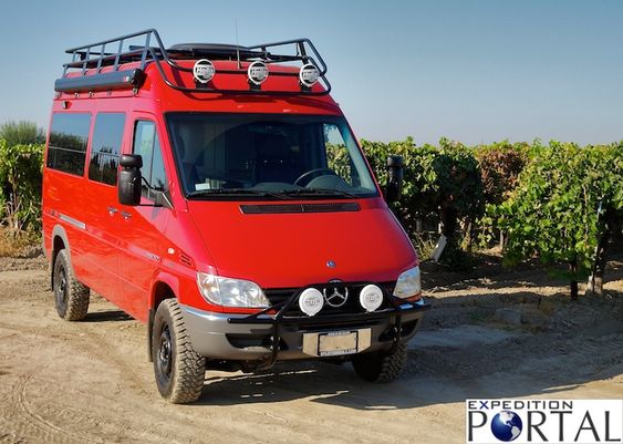 Scott Brady's pics on ExpeditionPortal of the SMB 4x4 Sprinter prototype - no production models followed that one, unfortunately.