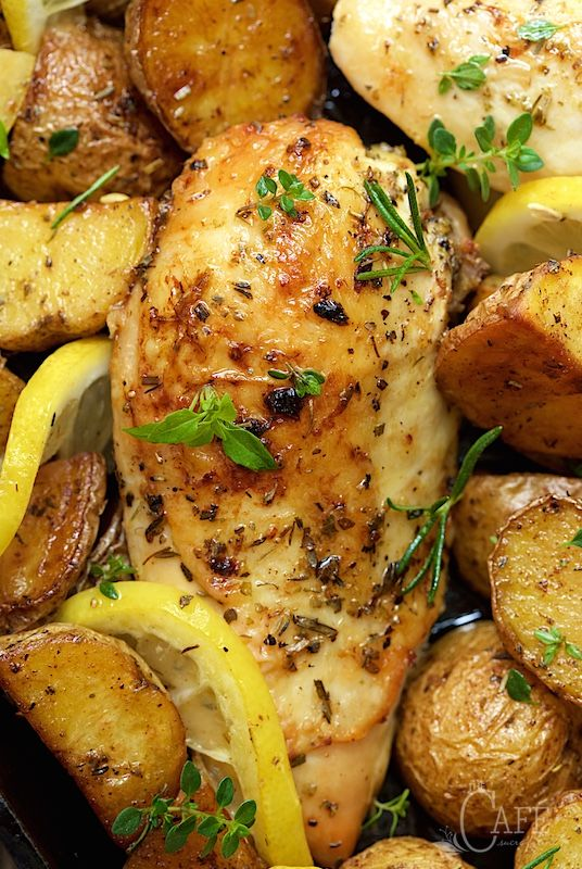 Roasted Chicken and Potatoes with Lemon, Garlic and Herbs - a winner ...