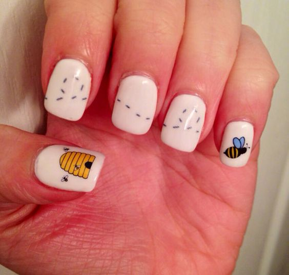Bumble Bee and Hive Nail Decals