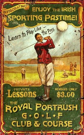 vintage golf sign - Custom Vintage Signs: