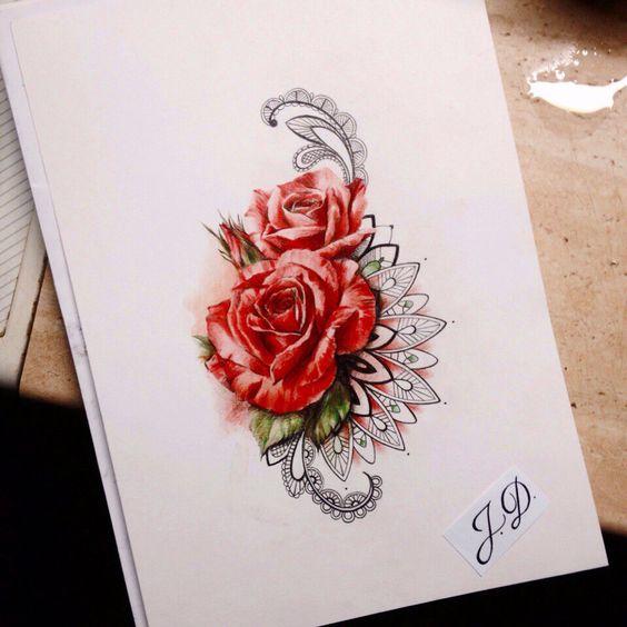Эскизы цветы и кружево