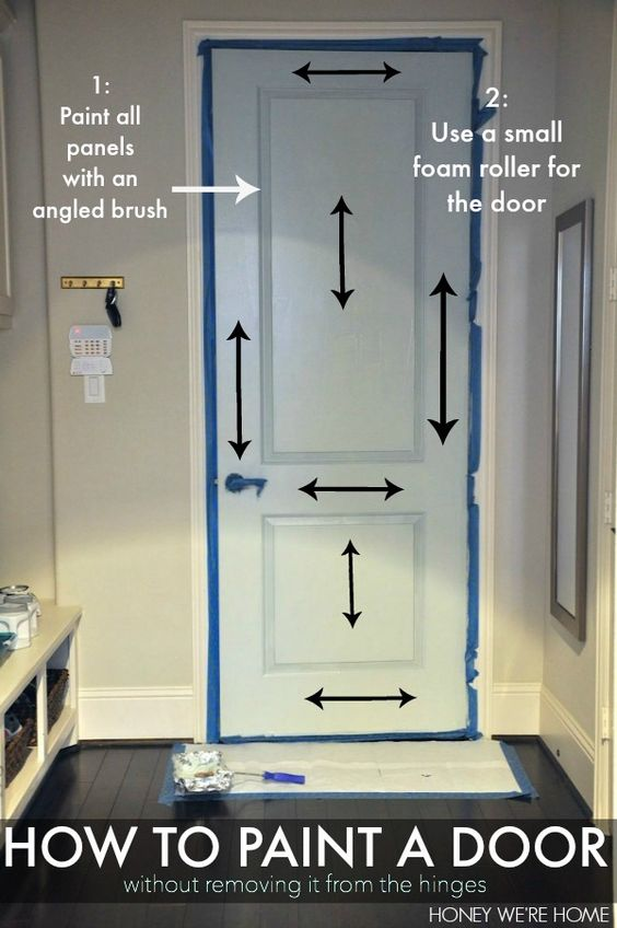 how to paint a door without removing it from the hinges diy pinterest painting doors and. Black Bedroom Furniture Sets. Home Design Ideas