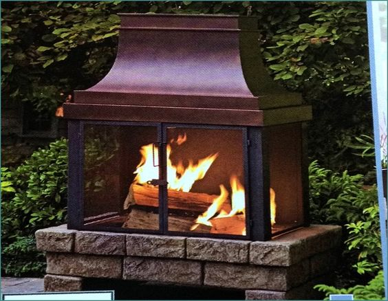 Backyard Fireplace Lowes : about Outdoor Propane Fireplace on Pinterest  Propane Fireplace, Fire