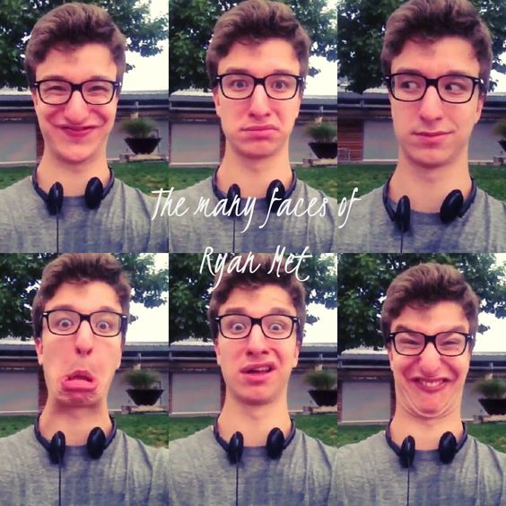 The many faces of Ryan Met | All Things AJR | Pinterest ...