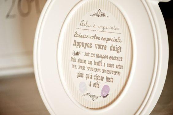 instructions pour arbre empreintes wedding ideas. Black Bedroom Furniture Sets. Home Design Ideas