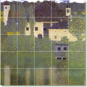 Schloss Kammer On The Attersee I Tile Mural By Gustave Klimt