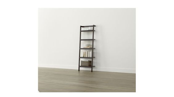 """Sawyer Mocha Leaning 24.5"""" Bookcase. 