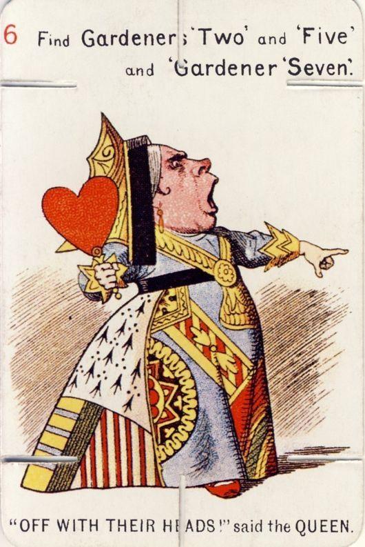 Alice In Wonderland Original Illustrations Queen Of Hearts To John Tenniel
