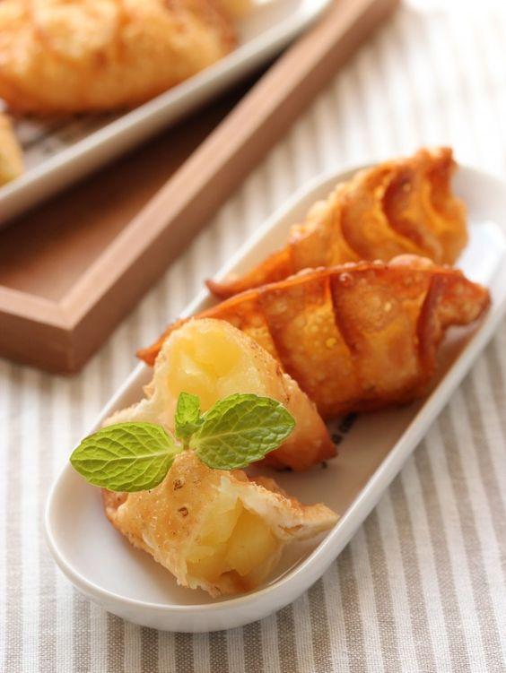 リンゴのカラメリゼと餃子の皮 de アップルパイ☆ ~フルーツパイアレンジ|[暮らしニスタ] 暮らしのアイデアがいっぱい♪
