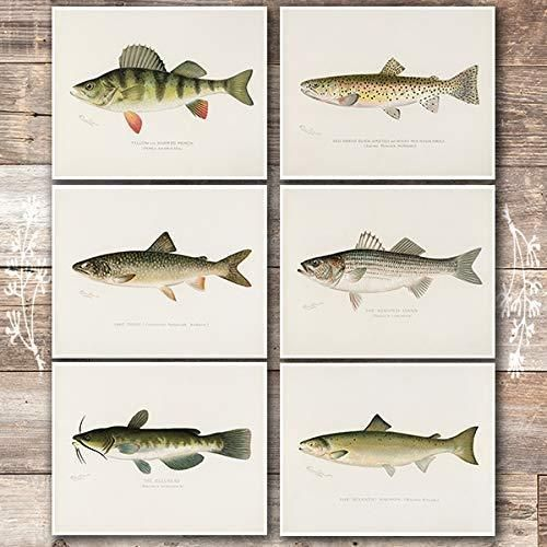 Vintage Fly Fishing Lure Patent  Print Unframed Brook Trout Fish Wall Art Decor