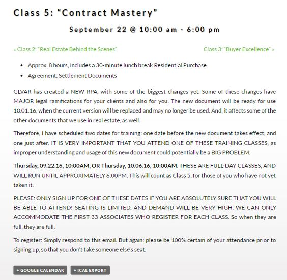 Excited for tomorrow\u0027s Class 5 Contract Mastery Come prepared and - home purchase agreement