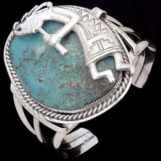Kokopelli Overlay Bracelet  -*-*-bin859