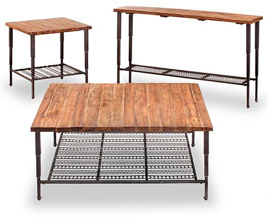 Coffee Tables-Wade Coffee Table-Rustic stylishly meets industrial