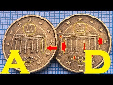 Defects Coins Germany 20 Euro Cent A Berlin D Munich Youtube Coins Euro Old Coins