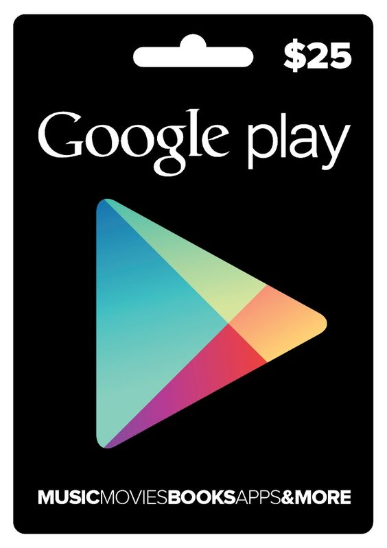 Google Play gift card (It's the app store for android phones)