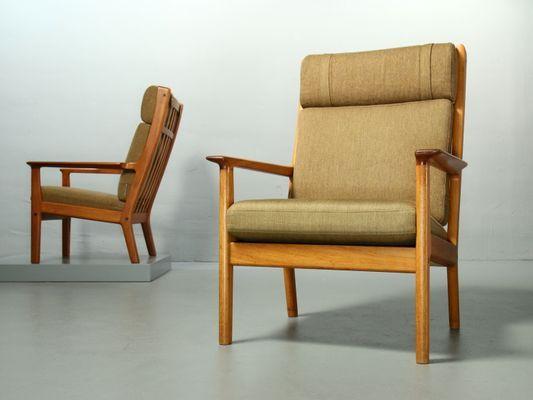 65a Highback Teak Lounge Chairs By Hans J Wegner For Getama