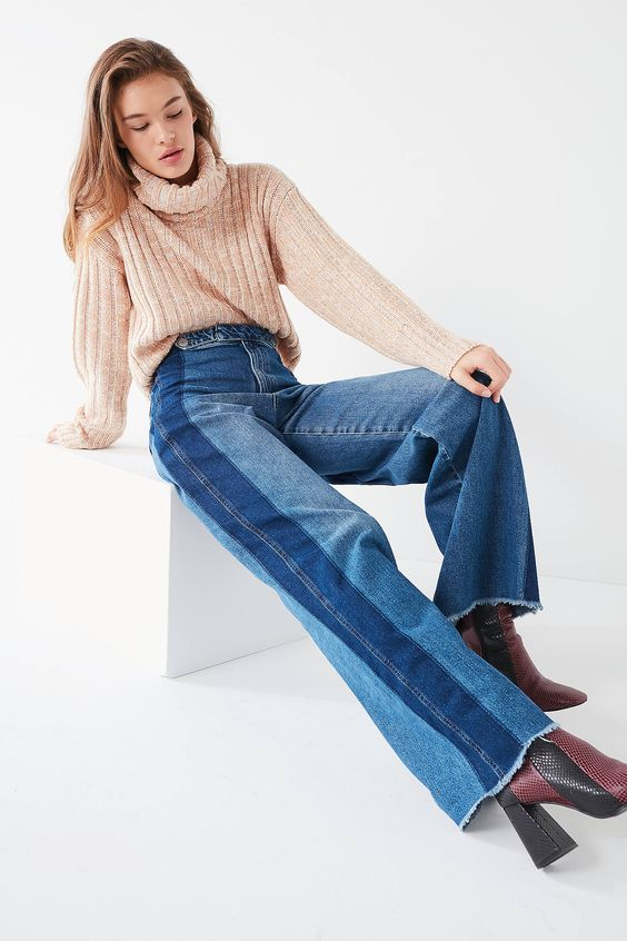Shop BDG Two-Tone Buckle Wide-Leg Jean at Urban Outfitters today. We carry all the latest styles, colors and brands for you to choose from right here.