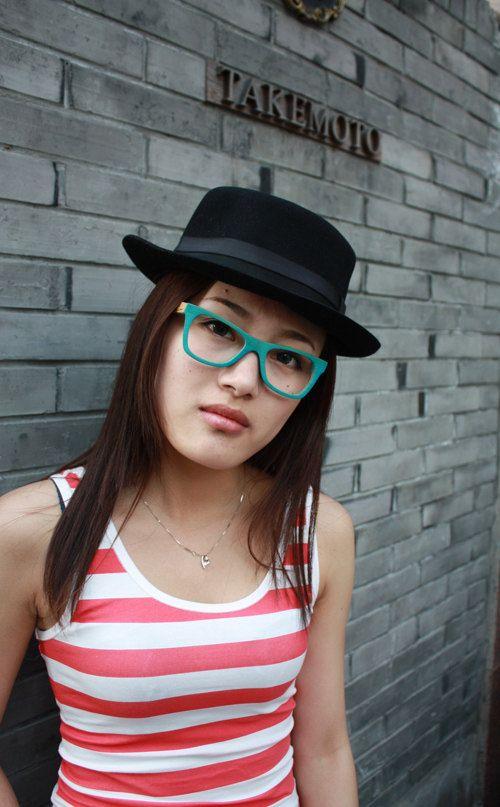 handmade bamboo eyeglasses glasses frames 1055 c1601 by TAKEMOTO. $65.00, via Etsy.