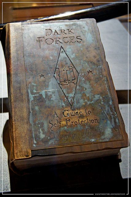 The Establishing Shot: HARRY POTTER EXHIBITION - LONDON FILM MUSEUM: HOGWARTS BOOK DARK ARTS DEFENCE BASICS FOR BEGINNERS FROM THE PRISONER OF AZKABAN by Craig Grobler, via Flickr