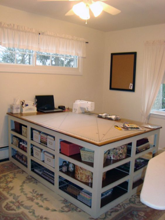 The Perfect Sewing/Cutting Table | Cutting Tables, Cuttings And Sewing Rooms