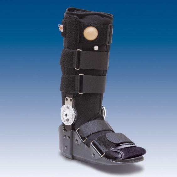 """ÓRTESIS """"AIR WALKER"""" ARTICULADO - REF: EST-083: Esguinces y lesiones ligamentosas del tobillo, heridas en el pie incluyendo las post- quirúrgicas, tendinitis de Aquiles, fracturas no desplazadas de la porción distal de la tibia y para la inmovilización de la articulación tibio-tarsiana incluyendo pie, pantorrilla y tobillo."""