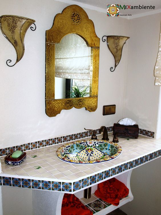 talavera mexican sink and tiles from mexambiente bunte mexikanische waschbecken und rustikale. Black Bedroom Furniture Sets. Home Design Ideas