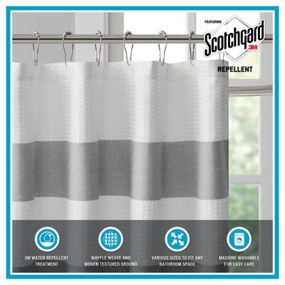 The Twillery Co Merrick Single Shower Curtain Color Taupe Size 72 H X 108 W Shower Curtain Shower Curtain Sizes Bathroom Accessories Sets