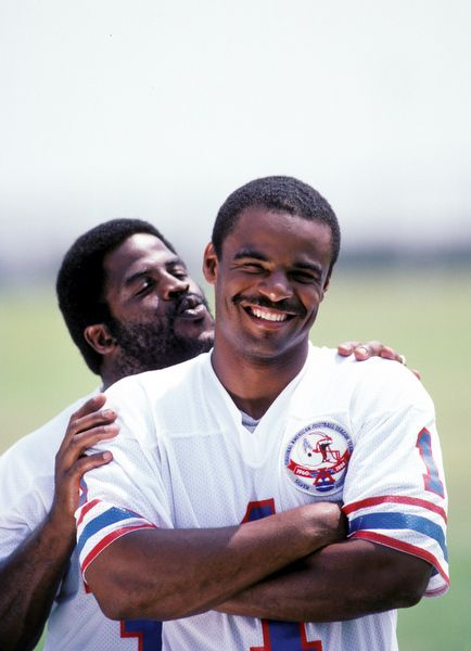 Vintage: RB-Earl Campbell and QB- Warren Moon, Houston Oilers