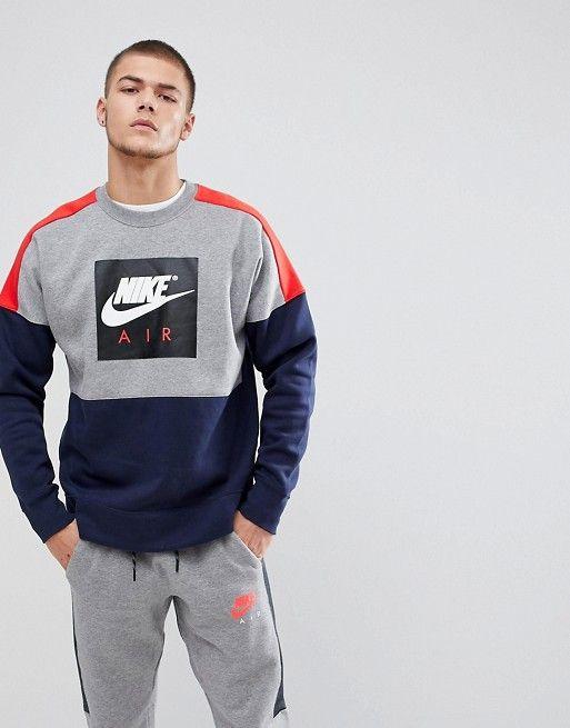 Nike | Nike Air Retro Sweat In Navy 886050 092 | Erkek modası