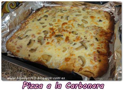 No me mires ♥: Receta: pizza a la carbonara