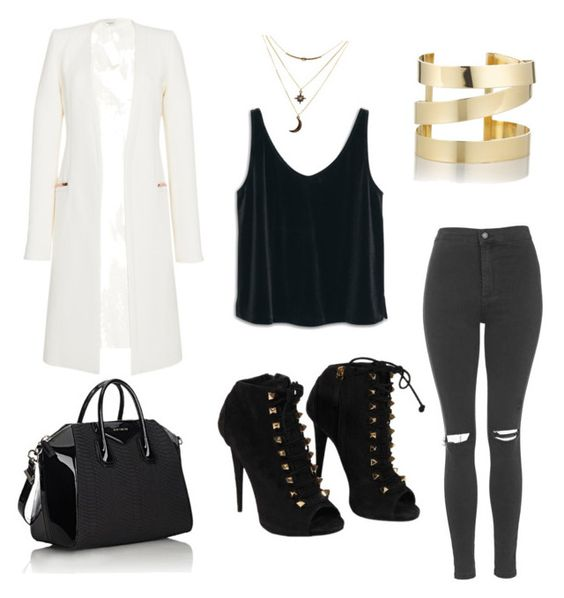 """""""Untitled #2"""" by miesha91 on Polyvore featuring Thierry Mugler, Topshop, MANGO, Giuseppe Zanotti, Givenchy, Charlotte Russe and Étoile Isabel Marant"""