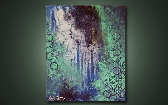 Evening Compliments  20 x 16 Modern Abstract by ReitenourPaintings, $39.99