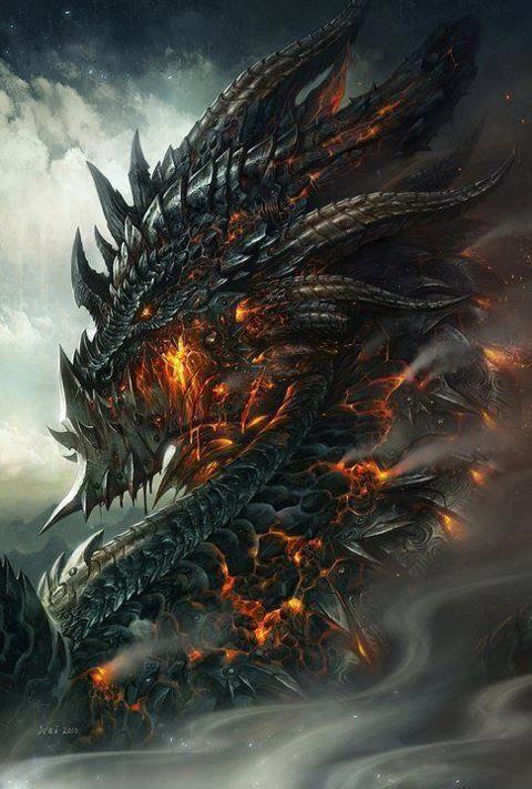 Cool Dragon Art | Grey, Black dragon and Shadowrun