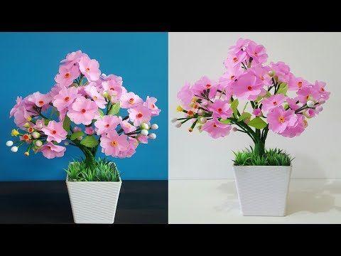 How To Make Plastic Flower Easy And Beautiful Hiasan Bunga