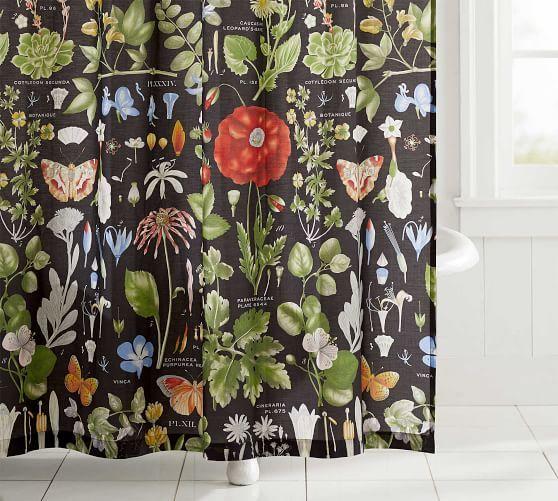 poppy print shower curtain potterybarn