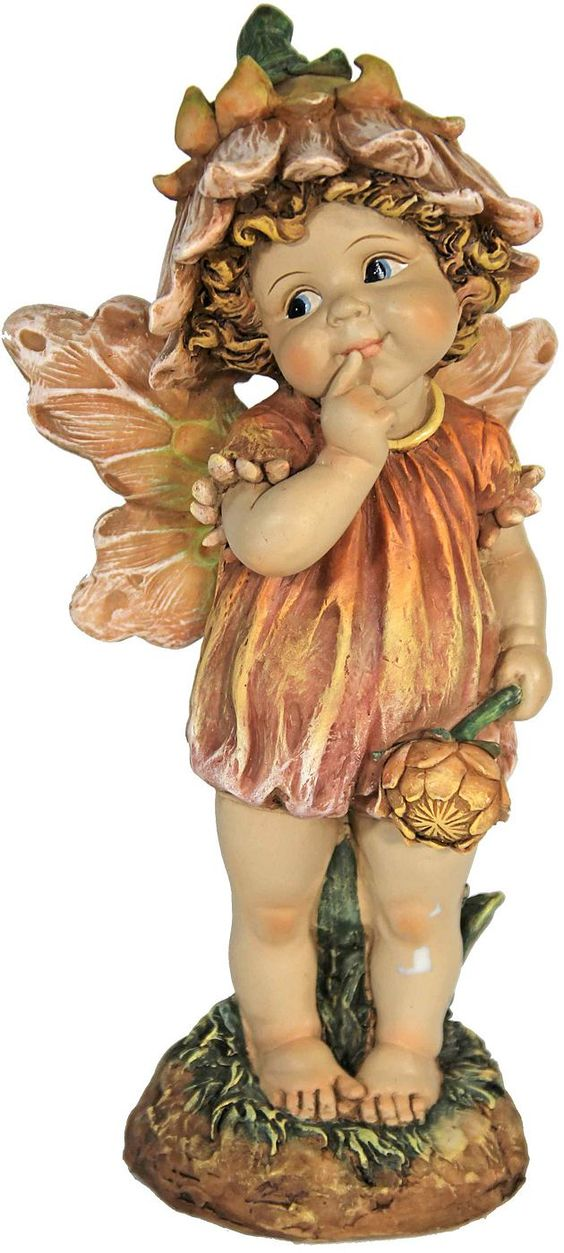 Die Elfen- Figur von Home affaire wird Sie verzaubern. Die kleine Elfe ist besonders detailreich gearbeitet und in sommerlichen Farben handbemalt. Die kleine Elfe mit Schmetterlingsflügeln scheint gerade auf einer Wiese zu stehen und zu überlegen, welche Blume sie als nächstes pflücken soll. Die Figur ist aus wetterfestem Polyresin (Kunststein) gefertigt. Damit ist die Elfe eine tolle Dekoidee ...