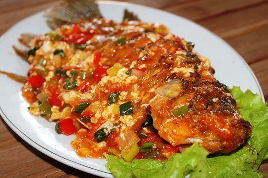 Ikan Nila Bumbu Asam Manis Pedas Resep Ikan Resep Masakan Resep