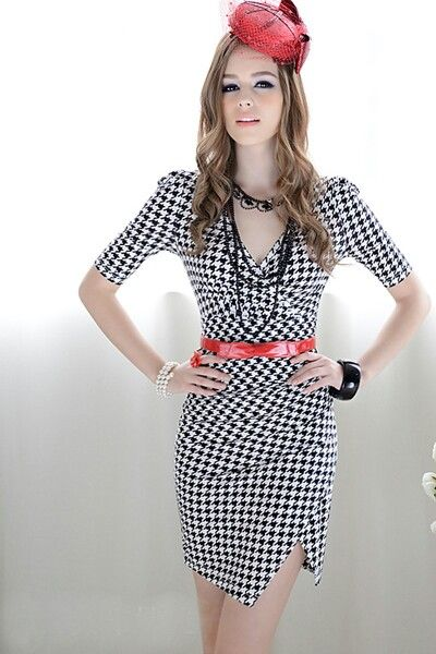 Black and White checkered dress  FASHION  Pinterest  Black and ...