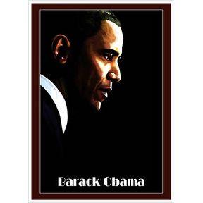 ''Barack Obama'' by H. Abavista Magnets Art Print