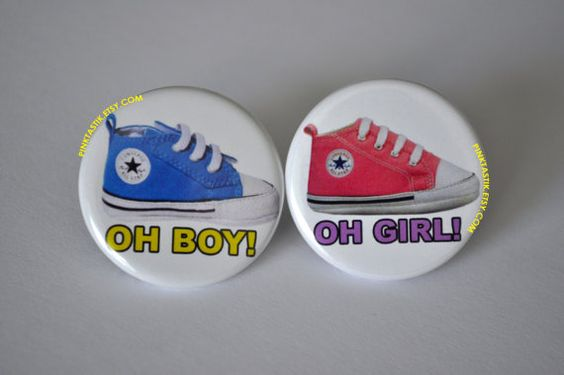 Gender Reveal ButtonsConverse Baby Shower Converse by PINKTASTIK