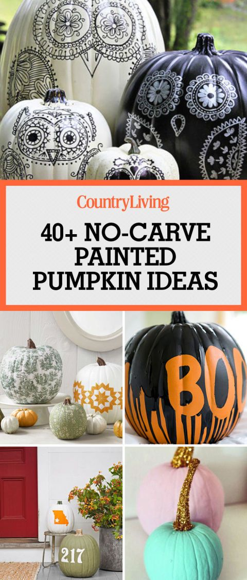 Awesome 60 Creative Ideas For No Carve Pumpkins