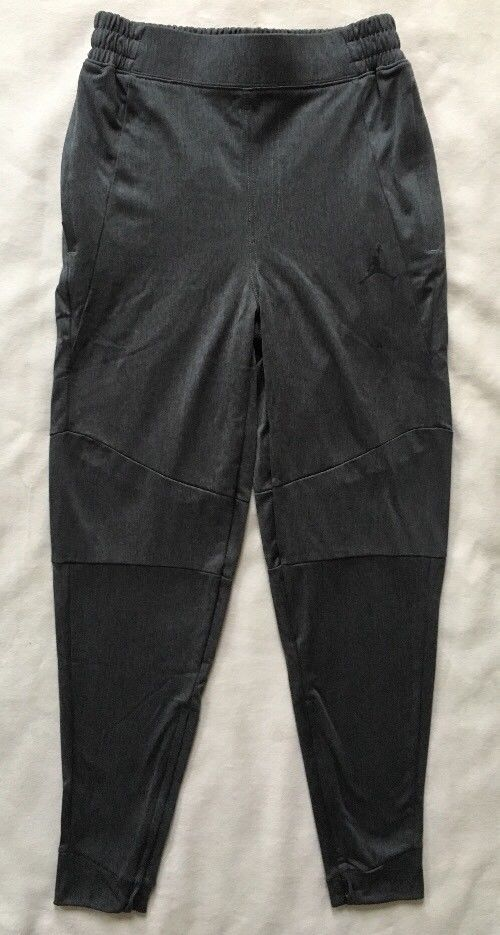 NIKE AIR JORDAN Boys Mesh Jogger Pants Sweatpants Black Joggers NWT 954847