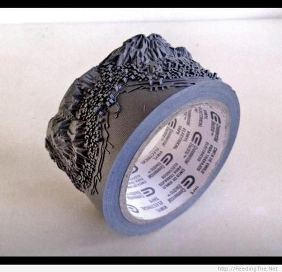 Amazing duct tape art - http://feedingthe.net/amazing-duct-tape-art-2/