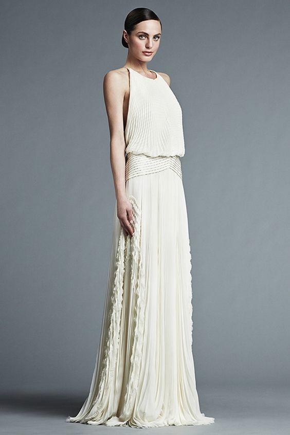 robe longue de mari e coupe fluide fines bretelles