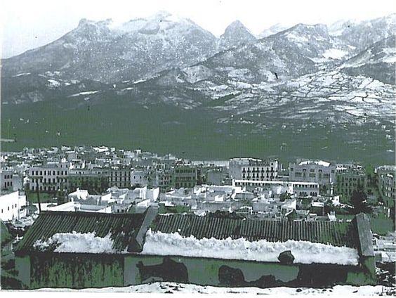 Tetuán nevado, 1934, cortesía de Ignacio Zabaleta, La Medina
