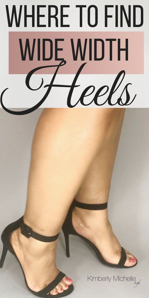 Where to Find Stylish Wide Width Heels