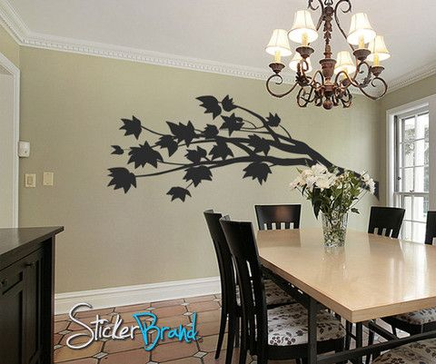 Vinyl Wall Decal Sticker Flower Branch Blossom #GWray102 | Stickerbrand wall art decals, wall graphics and wall murals.